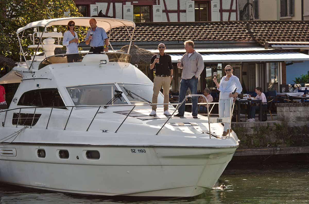 Partyyacht und Motoryacht Firmenevent Zürich